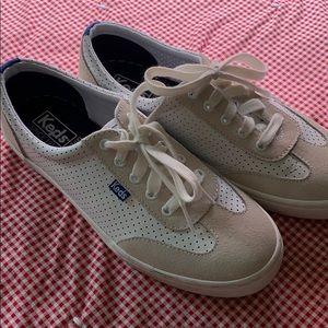 Keds ortholite white mesh court shoe size 8